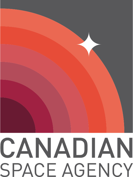 A redesigned Canadian Space Agency Logo featuring concentric circles and a star on th ehorizon