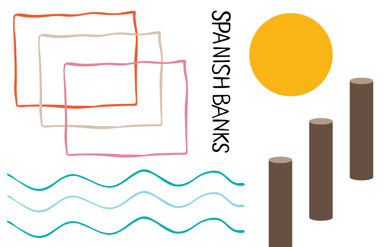 Hand drawn elements of the final design