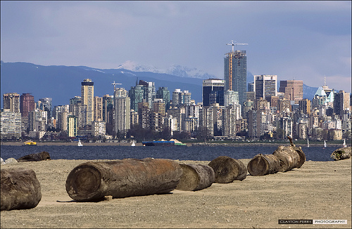 View of Vancouver from the beach
